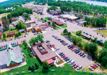 overhead shot of downtown nisswa